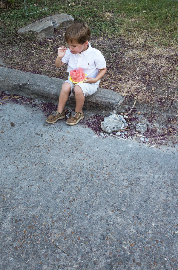 Nothing better to cool off with on a warm night than watermelon. Just ask a kid.